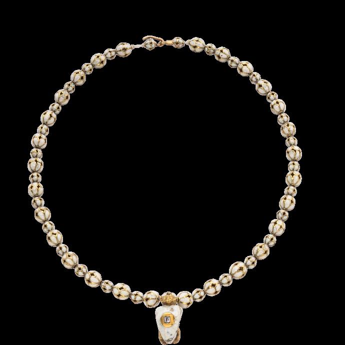 Renaissance Enamel Necklace with Satyr Pendant