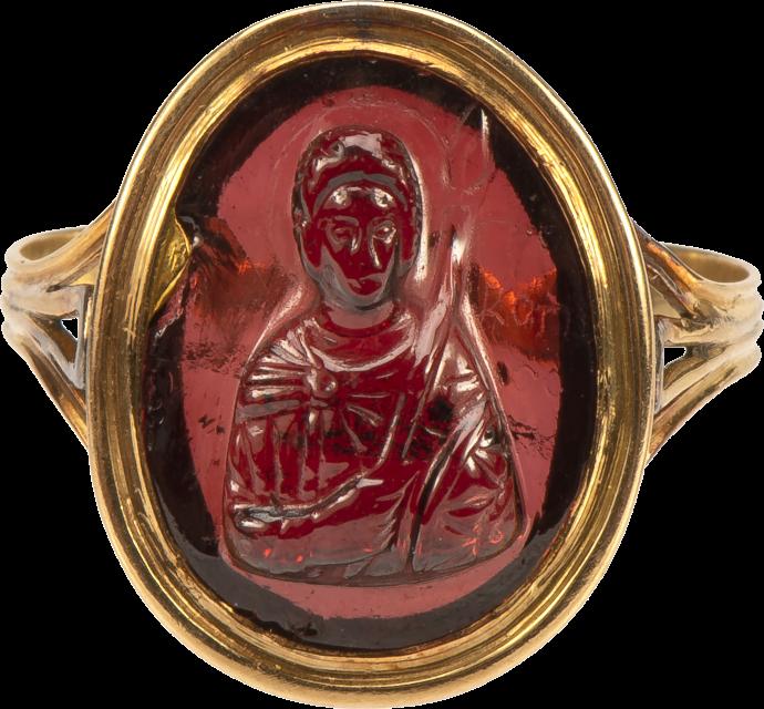 Ring with Cameo of Saint Procopius