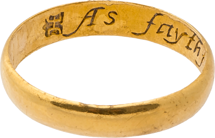 "Posy Ring ""As faythfull as frendly"""
