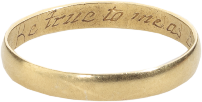 """Posy Ring """"Be true to me as I to thee"""""""