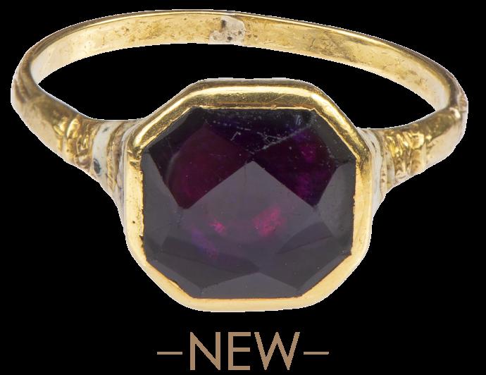 Gemstone Ring with Amethyst