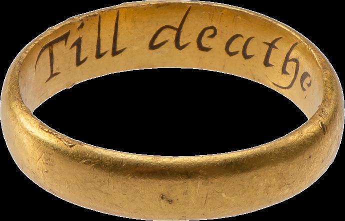 "Posy Ring ""Till deathe noe change"""