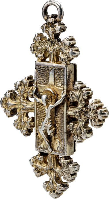 Reliquary Pendant with Christ on the Cross