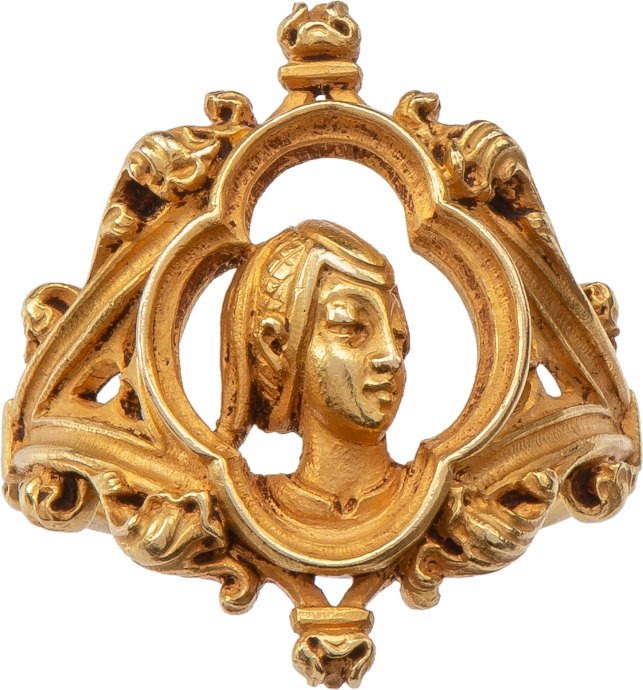 Joan of Arc Ring by Louis Wièse (1852-1930)