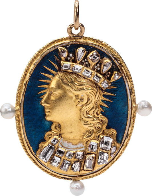 Pendant with Virgin Mary as Queen of Heaven