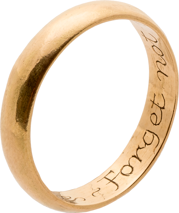 "Posy Ring, ""FORGET NOT HE WHO LOVETH THEE"""