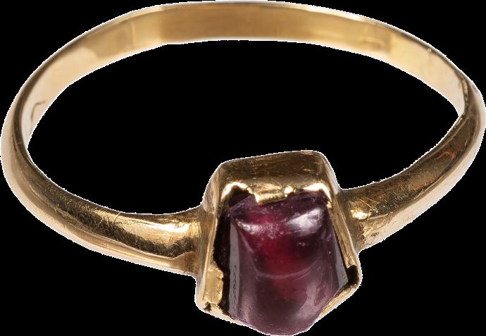 Tart Mold Ring with Garnet