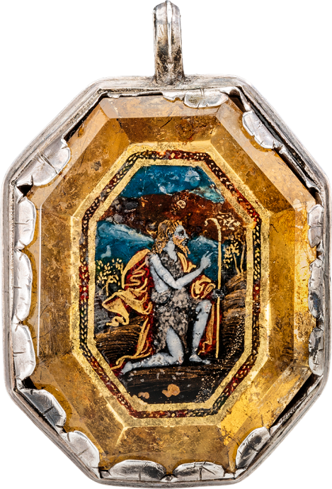 Pendant with Crucifixion and St. John the Baptist