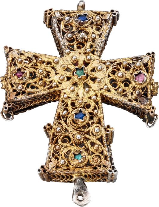 Reliquary Cross Pendant