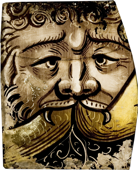 Ornamental Fragment with a Grotesque Mask