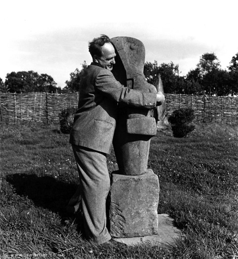 Henry Moore, Farley Farm House, Sussex, England