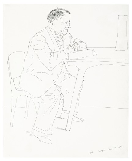 David Hockney, Artist's Father Reading at Table, 1972