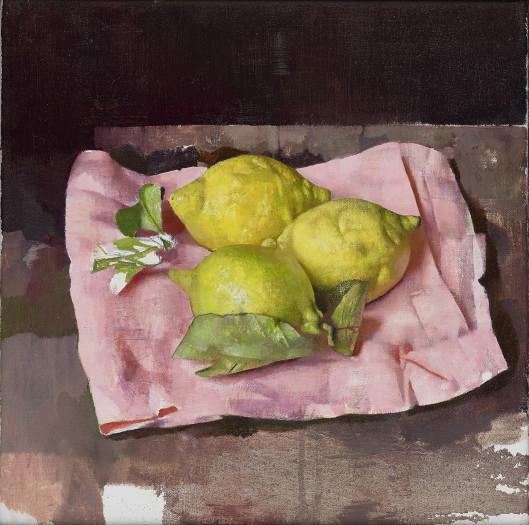 Diarmuid Kelley, Lemons on a Pink Napkin, 2019