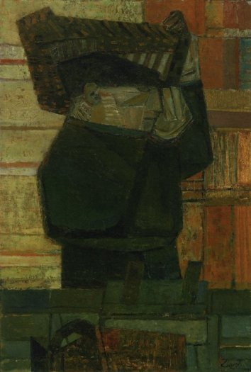 Fisherman Carrying Basket