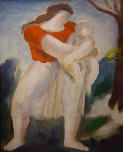 Mother and Child in Oxford Meadows