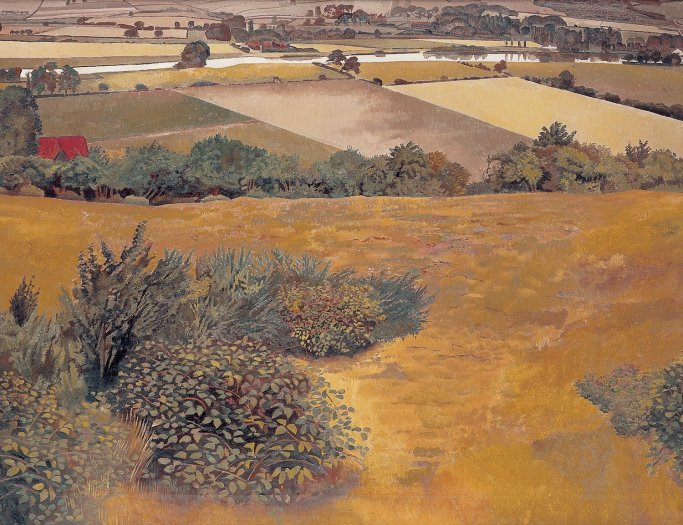 Stanley Spencer, A View of the Thames from Cockmarsh Hill, Cookham, 1935