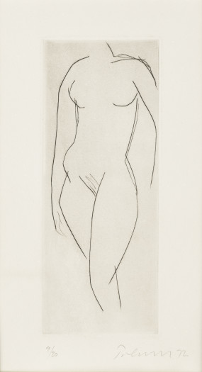William Turnbull, Nude XII, 1972