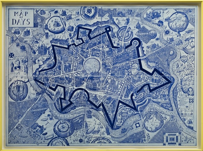 Grayson Perry, Map of Days (Blue), 2013