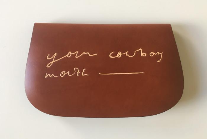 Tarka Kings, Leather Bag (Cowboy 1), 2016