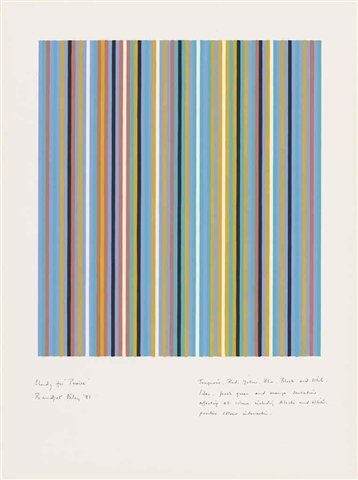 Bridget Riley, Study for Praise, 1981