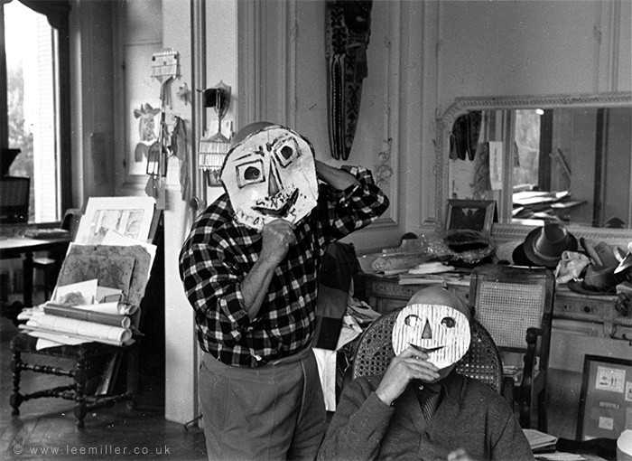 Picasso and Jaime Sabartes, Villa la Californie, Cannes, France