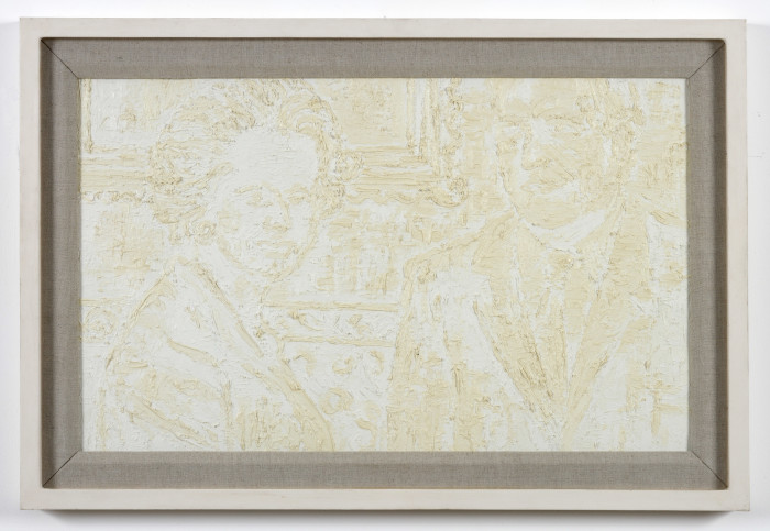 Keith Coventry, White Abstract (Charles Moore and Mrs Thatcher), 1994