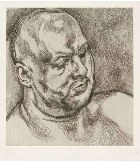 Lucian Freud, Head of a Man, 1992