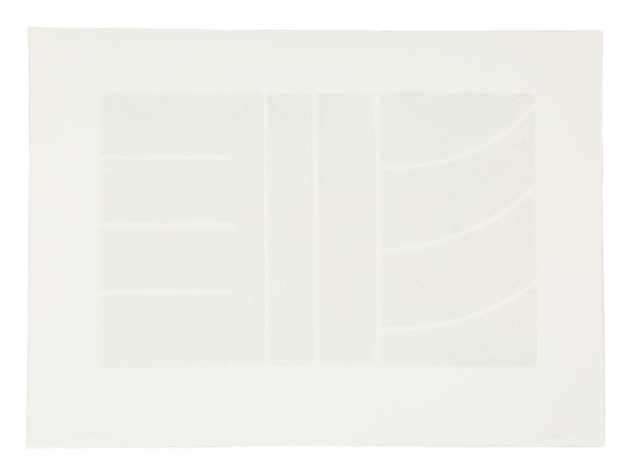 Kim Lim, Untitled Lithograph (Grey on white), 1993