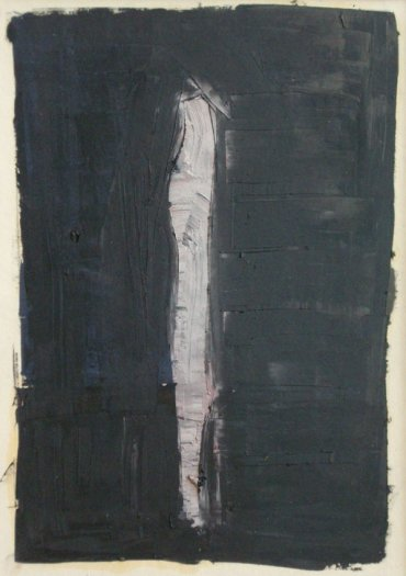 Peter Kinley, Study for Black Standing Form, 1963