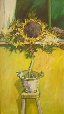 Sunflowers in an Electric Light