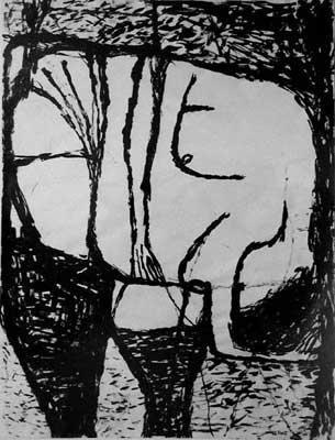 William Scott, Seated Figure, 1956
