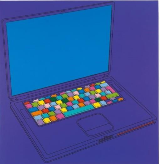 Michael Craig-Martin, Apple Powerbook G4 17'', 2003