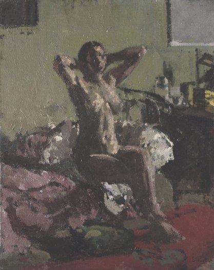 Nude Reclining, La Coiffure