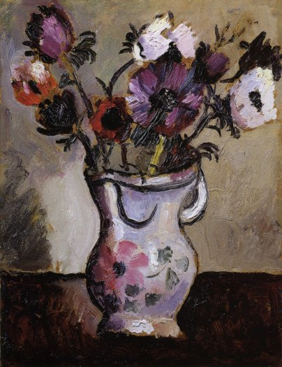 Anemones in a Decorated Jug