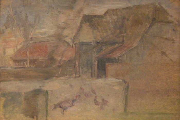 William Coldstream, Farmyard Nr. Monksbury, c.1939-40