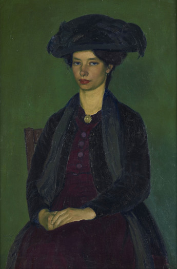 Henry Lamb, Portrait of Edie McNeill, 1909