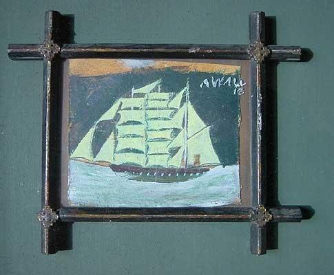 Ship in a Religious Frame