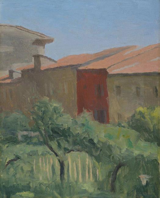 Giorgio Morandi, Cortile di Via Fondazza, 1941