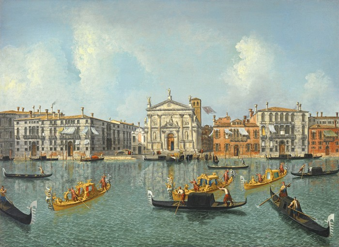 Michele Marieschi, The Grand Canal with a View of the Church of San Stae, 1730s