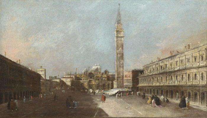 Francesco Guardi, View of the Piazza San Marco looking towards the Piazzetta, c. 1780