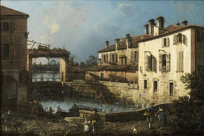 Antonio Canal, called Canaletto, The Lock at Dolo, probably 1755