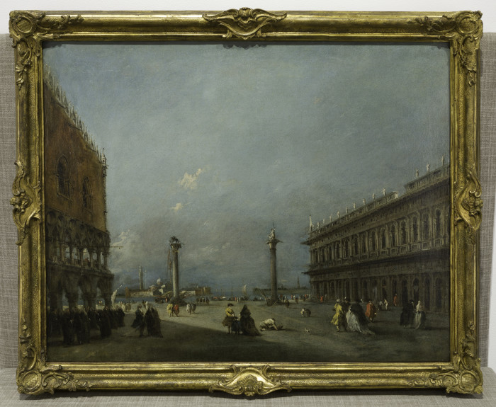 Francesco Guardi, A View of the Piazzetta Looking towards the Bacino and the Island of San Giorgio, 1760s