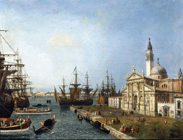 Michele Marieschi, Venice, a View of the Bacino di San Marco from the Church and Island of San Giorgio Maggiore, c. 1742