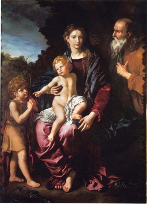Bartolomeo Cavarozzi, Holy Family with the Young Saint John, c. 1620