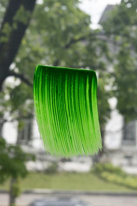 Pinselstrich, fluoreszierend grün / Brushstroke, Fluorescent Green, 2019