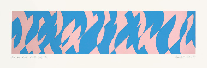 Blue and Pink [Krefeld Print]