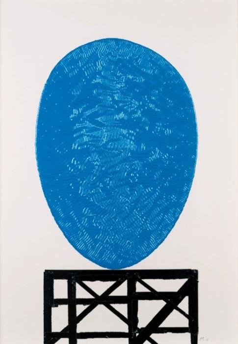 Ridinghouse Blob Drawing (blue)