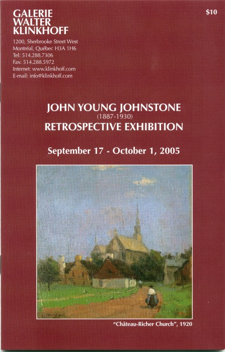 John Young Johnstone (1887-1930) Retrospective Exhibition. Biography by A.K. Prakash, published by Galerie Walter Klinkhoff, 2005.
