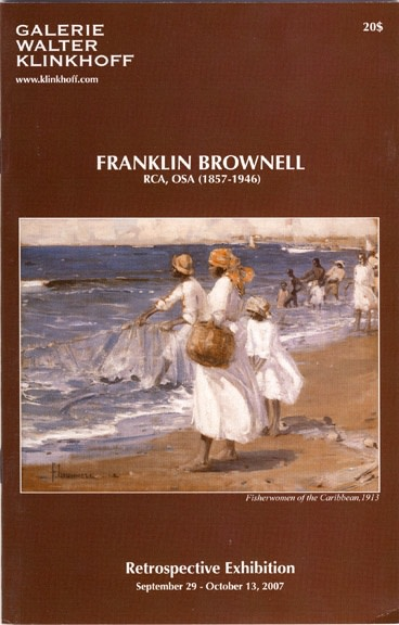 Franklin Brownell (1857-1946) Retrospective Exhibition. Biography by A.K. Prakash, published by galerie Walter Klinkhoff, 2007.