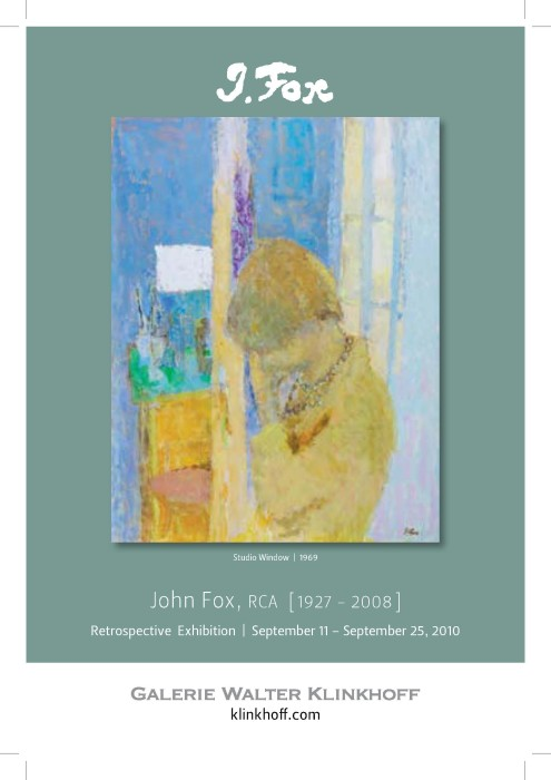 John Fox, ARC (1927-2008) Retrospective Exhibition. Text written by Judith Hayes, published by Galerie Walter Klinkhoff, 2010.